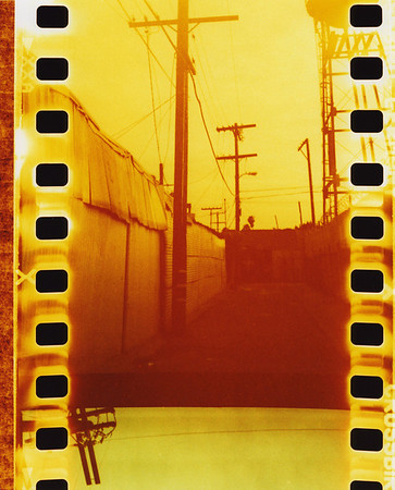 Alley- yellow, Alameda Corridor, Los Angeles, CA