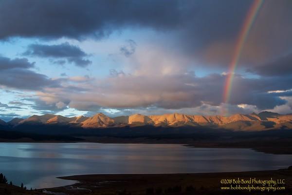 Rainbow over Taylor Park Reservoir