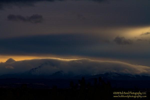 Pikes Peak Winter Solstice Sunset