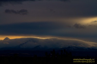 Pikes Peak Winter Solstice Sunset