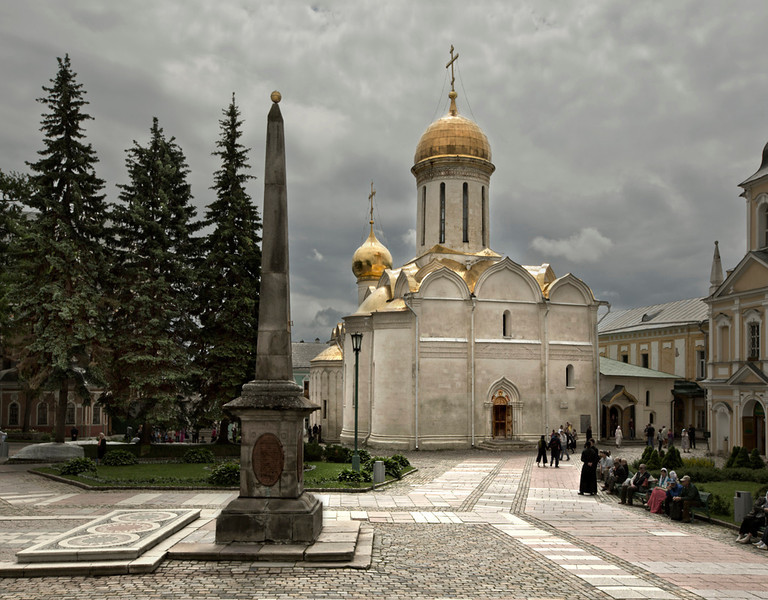 Cathedral of the Holy Trinity, Sergiev Posad 2012 <br /> Early Muscovite<br /> <br /> To the northwest of Moscow is the town of Sergiev Posad which boasts the most important monastery in Russia, the picturesque complex of the Trinity Lavra of St. Sergii.