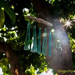 Passing light Through Glass Wind Chimes
