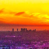 Detailed View of the L.A. Basin at Sunset: Day End #3 Rainbow Earth & Sky