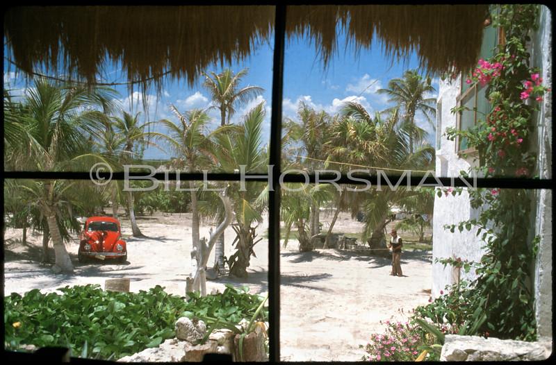 Yucatan Cantina view from window near Tulum,Yucatan, Mexico