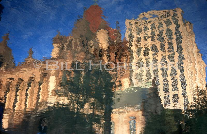 Copley Square Reflection Pool Boston 2000