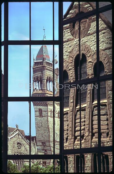 Hancock Bldg & Trinity Church reflection<br /> Hancock Bldg & Trinity Church reflection