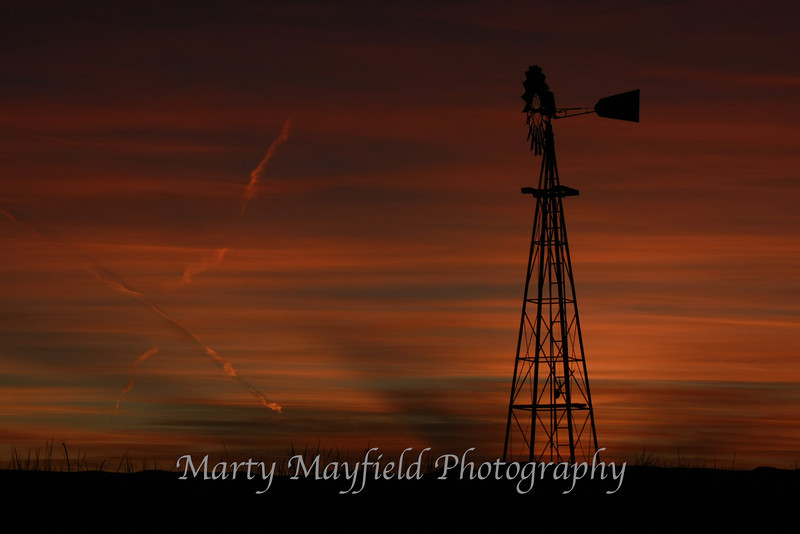 Windmill Sunset east of Raton_ 029