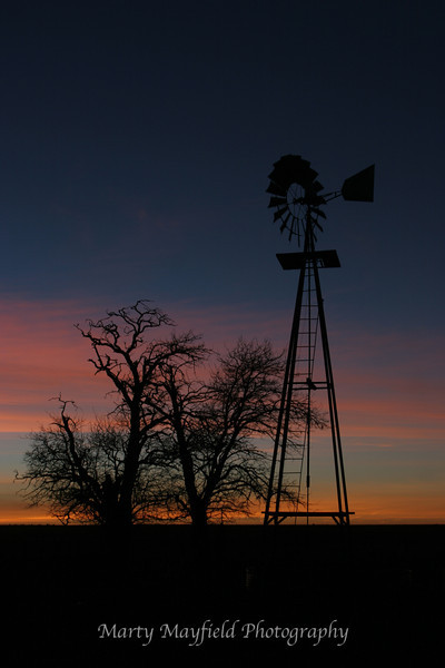 Windmill Sunset near Mosquero NM_025