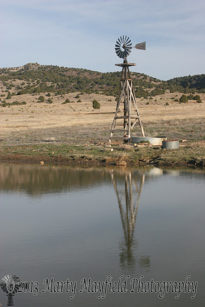 Windmill and Pond near Kiowa_003