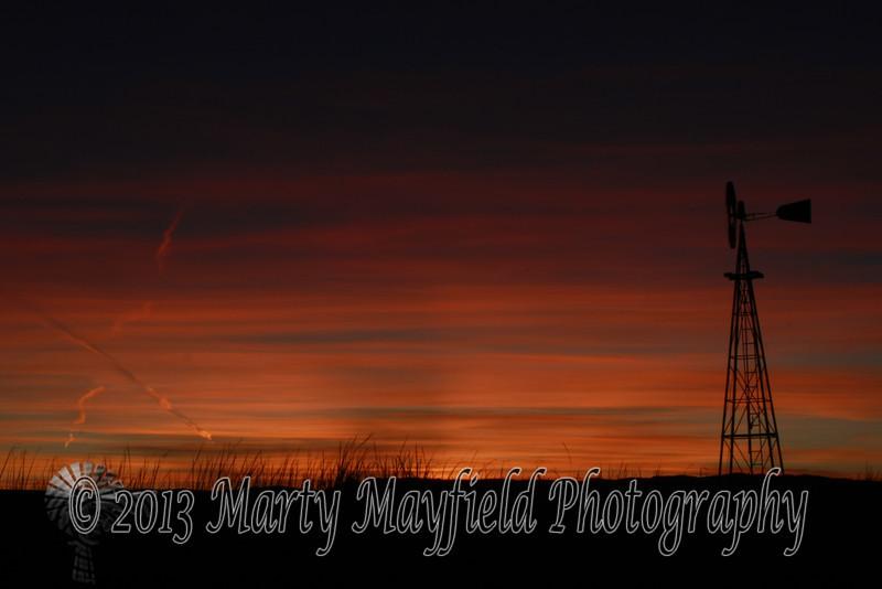 Windmill Sunset east of Raton_ 034
