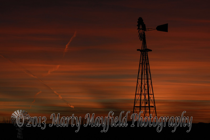 Windmill Sunset east of Raton_ 029
