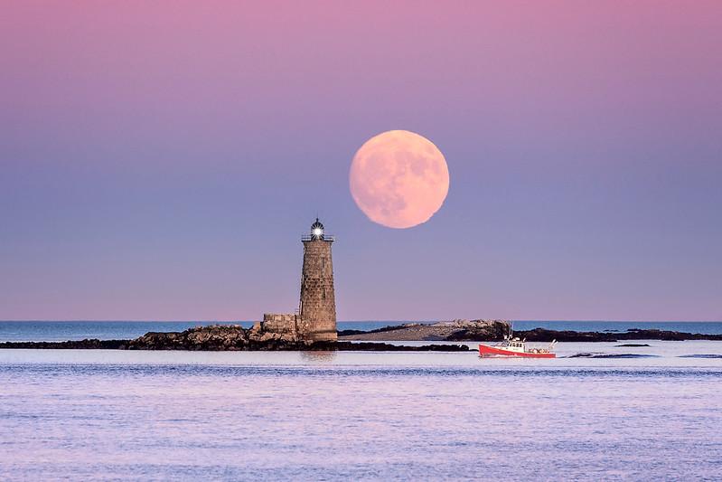 Full Moon at Whaleback Lighthouse