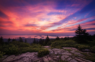 Summer Sunrise at Cadillac Mountain