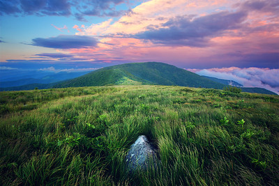 Sunset on the Appalachian Trail near Roan Mountain Tennessee