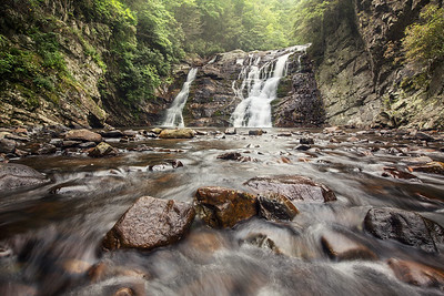 Laurel Falls in North East Tennessee on the Appalachian Trail