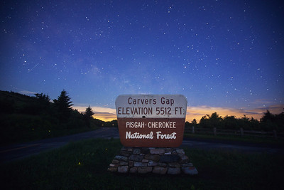 Carver's Gap, on the Appalachian Trail near Roan Mountain Tennessee