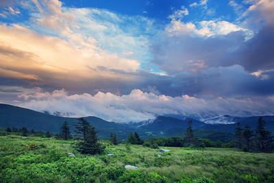 Sunset on the Appalachian Trail near Roan Mountain Tennessee