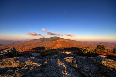 The Appalachian Trail near Roan Mountain Tennessee