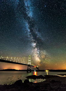Milky Way at Deer Isle Bridge