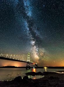 Milky Way at Deer Isle Bridge