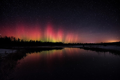 November Aurora Reflections
