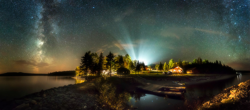 The Glen at Bear Tree - Night Pano #1