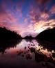 Night Reflections at Jordan Pond - Vertical Crop