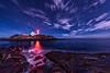 Cape Neddick Light (Nubble Lighthouse) in York, Maine. Photographed November 21, 2013.