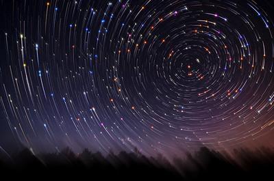 Twirling Star Trails