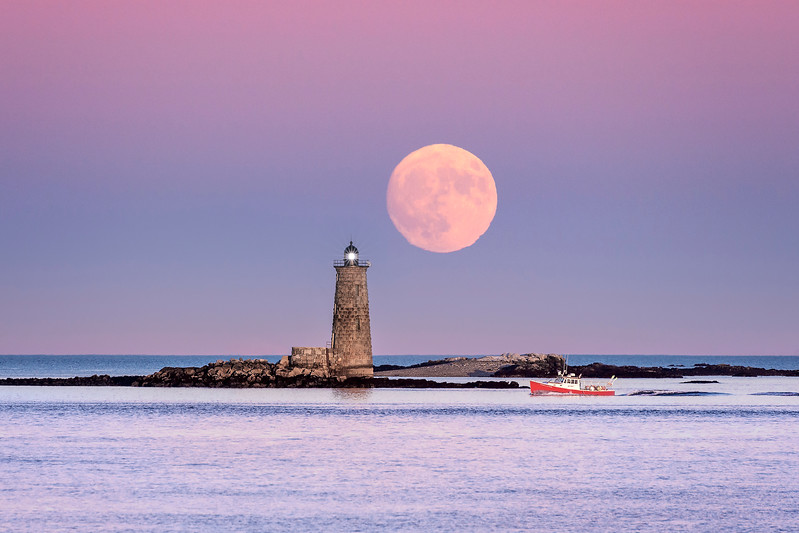Full Moon at Whaleback Lighthouse