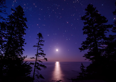 Moonrise at Acadia National Park