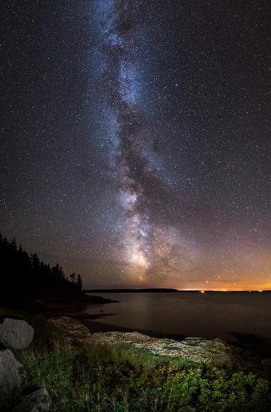 Roque Bluffs at Night