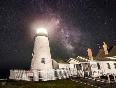 Pemaquid Light Milky Way