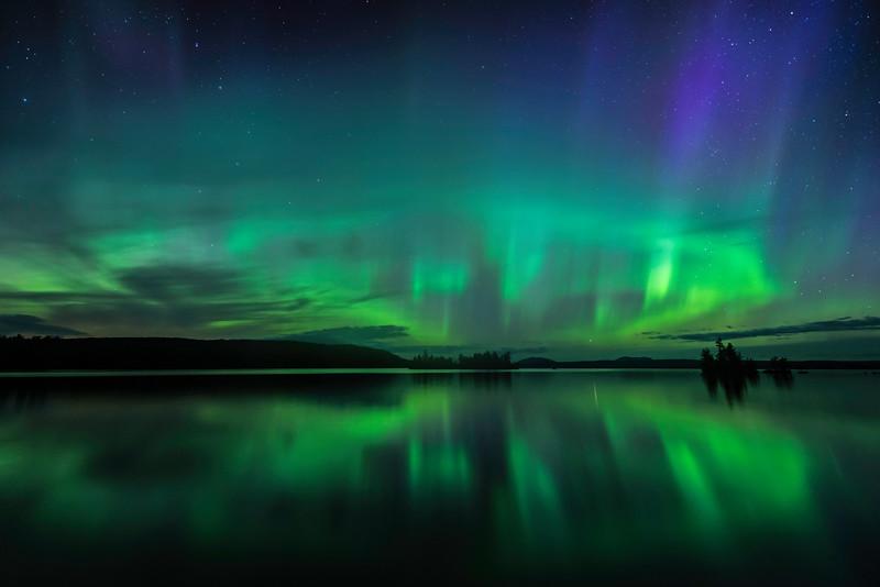 Aurora at Moosehead Lake - June 22 2015