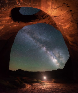 Moccasin Arch at Night