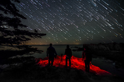 The Three Amigos - Landscape Astrophotographers on Maine's Bold Coast.