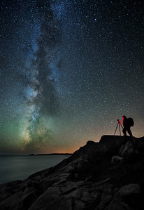 The Landscape Astrophotographer At Work. Photographed September 6, 2013.