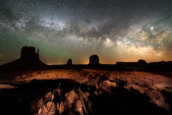 Milky Way Rise at the Mittens and Merrick Butte