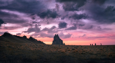A Fantastic Sunset at Shiprock, New Mexico
