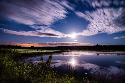 Moonrise Reflections