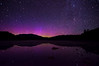 The colors of the Northern Lights & the features of the night sky surround Mt. Katahdin and reflect in this small pond. Photographed July 13, 2013 at 1:12 AM.