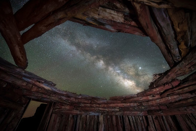 Milky Way Through the Roof of a Hogan
