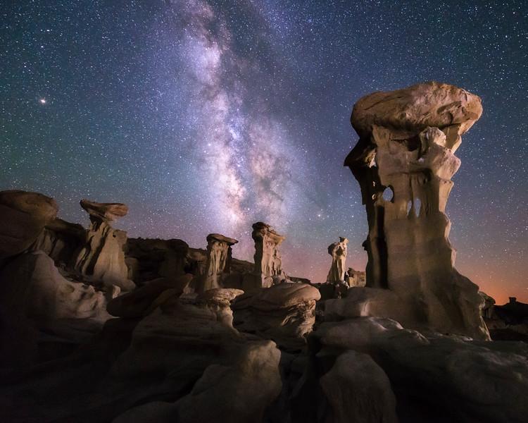 Valley of Dreams at Night