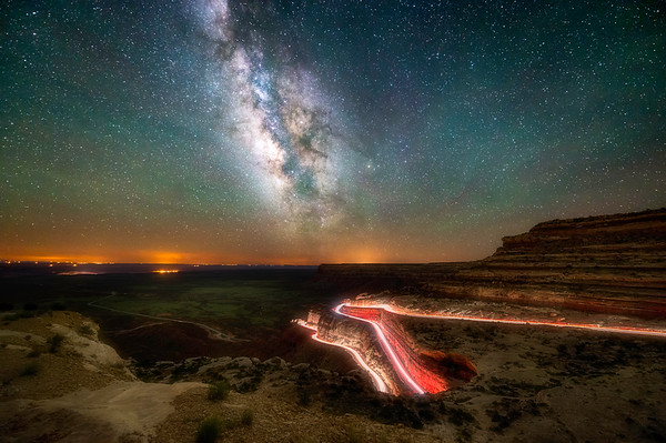 Moki Dugway at Night