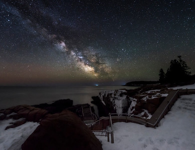 Thunder Hole Under the Milky Way