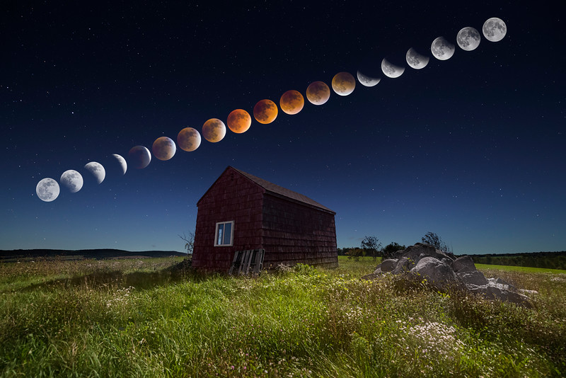 Super Blood Moon Eclipse Sequence