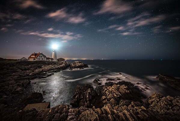 Portland Head Light at Night