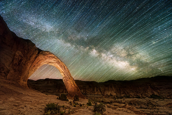 Corona Arch Milky Way and Star Trails