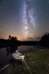 Under the Milky Way at Moosehead Lake