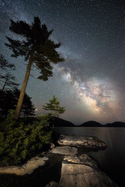 Single exposure using an LED panel to light the foreground - taken at the end of our Acadia National Park workshop in June 2018.